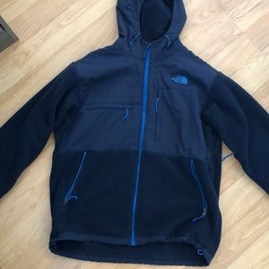 Navy Hooded North Face